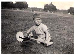 Clive parish aged 4 with Beechholme in the background.