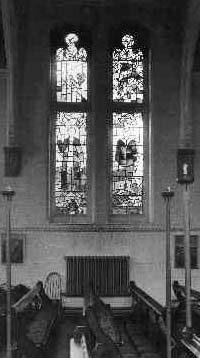 Two stained glass windows at Beechholme.Courtesy of Peter Eliot.