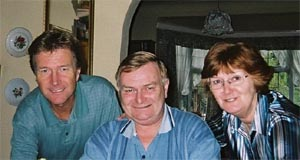 John, David and June in 1998