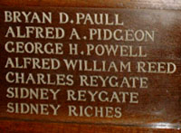 Alfred Allen Pidgeon,All Saints Memorial, Banstead.