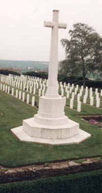 Dranoutre military Cemetery, by permission of Commonwealth War Graves Commission.