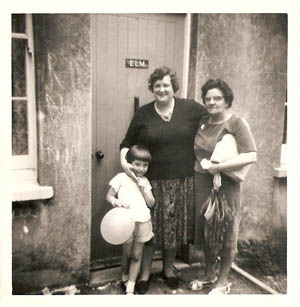 Janice Langford with auntie Nikki and auntie Kay