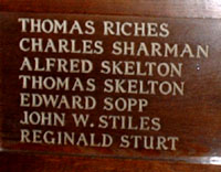 C Sharman, Wood Panel, All Saints Church Banstead
