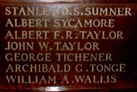 Stanley D S Sumner, Wood panel, All Saints Church, Banstead