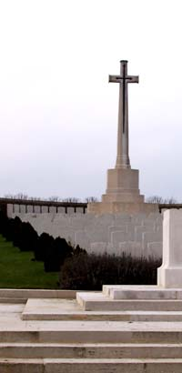 GORDON DUMP CEMETERY, OVILLERS-LA BOISSELLE,by permission of Commonwealth War Graves Commission.