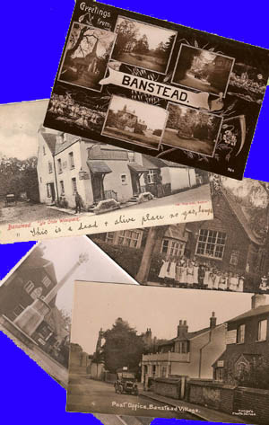 Just a few of Lewis' Banstead postcards