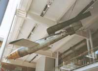 Flying bomb in museum